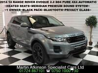 2014 14 Land Rover Range Rover Evoque Pure 2.2 SD4 4WD Automatic 5dr 190BHP 4X4
