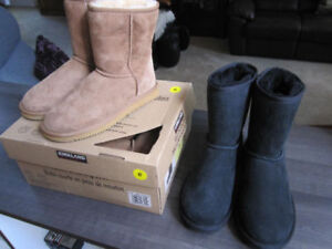 Boots,Kirk. Shearling.Sheepskin, sz. 6 & 8, Br.New..$25. REDUCED