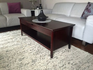 Solid Wood Coffee Table - Like New