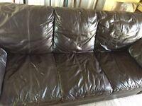 Large 3-seater Leather sofa £70