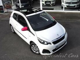 PEUGEOT 108 1.0 ACTIVE TOP 3d 68 BHP Full Electric sunroof -On (white) 2014