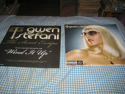 GWEN STEFANI-(the great escape)-1 POSTER FLAT-2 SIDED-12X12-NMINT-RARE