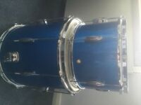 c&c cc c and c player date 1 , drum kit, modern vintage style lovely drums in blue sparkle