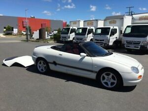 1997 MG F Soft/Hard Top Roadster White 5 Speed Manual Convertible