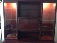 Display Cabinet & Sideboard - Mahogany.