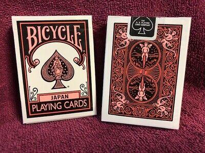 1 DECK Bicycle Japan black-orange playing cards  USA SELLER!
