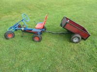 Berg original go kart and tipping trailer.