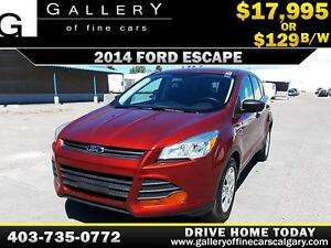 2014 Ford Escape S $129 bi-weekly APPLY NOW DRIVE NOW