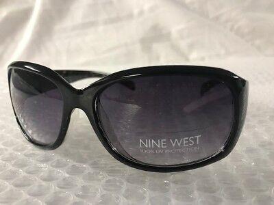 8205c0e17c NEW Nine West Womens Cute Rectangle Sunglasses Black Fashion Trendy Modern  A8