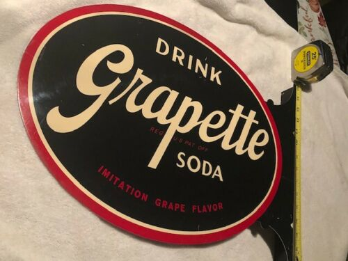 Grapette Soda Flange Sign Very Nice Condition
