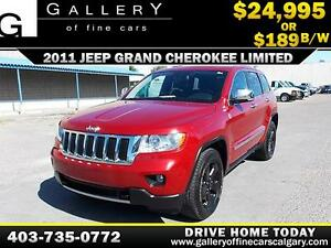 2011 Grand Cherokee LIMITED $189 bi-weekly APPLY NOW DRIVE NOW