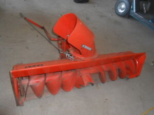 Snowblower  and Hyd Tiller Attachment with Acreage Tractor