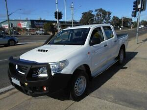 2015 Toyota Hilux KUN26R MY14 SR Double Cab White 5 Speed Automatic Utility Fyshwick South Canberra Preview