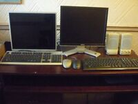Monitors, Keyboard, Mouse and Speakers for Sale