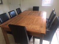 Solid Hardwood Dining Table - 8 to 10 Seater