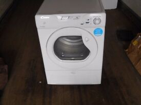 NEARLY NEW, 3 MONTH`S OLD, CANDY GCC591NB, 9KG DRUM,B RATED CONDENSER TUMBLE DRYER IN WHITE RRP £219