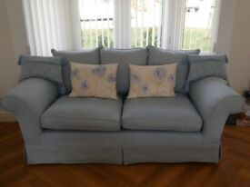 LAURA ASHLEY LARGE 2 SEATER SOFA WITH REMOVABLE COVERS