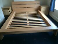 king size dedinger bed frame and matress for sale for £30+ matress £30