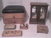 6 Table Top Jewellery & Storage Boxes - Heathrow