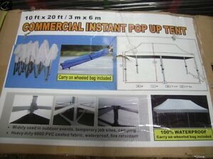 10' x 20' NEW COMMERCIAL INSTANT POP UP TENT $500