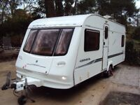 COMPASS CORONA 534 04' 4 BERTH FIXED BED CARAVAN, POWER TOUCH MOVER