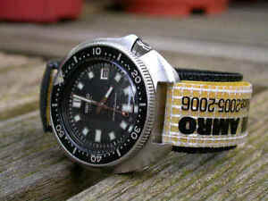Volvo Ocean Race Kevlar Velcro Dive Watch Band Strap 20mm Winning Team ABN/AMRO