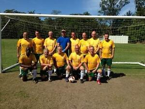 Soccer players and Goalkeeper over 35's Mitchelton comp Alderley Brisbane North West Preview