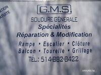 SOUDURE GMS RIVE-SUD ENR., FER-FORGÉ, ESCALIER, RAMPE, BALCONS
