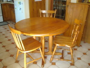 All wood table and chairs