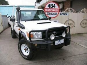 2011 Toyota Landcruiser VDJ79R 09 Upgrade GX (4x4) White 5 Speed Manual Cab Chassis Roselands Canterbury Area Preview
