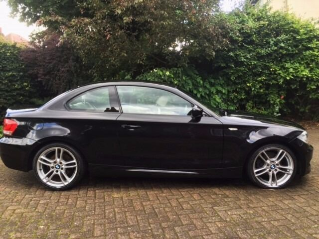 Bmw 1 series coupe 61 reg 118d m sport high spec black with oyster leather in woodthorpe - Black bmw 1 series coupe ...