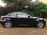 BMW 1 series Coupe 61 reg - 118d M-Sport - High Spec Black with Oyster leather