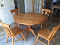 Dining set - round table with four chairs