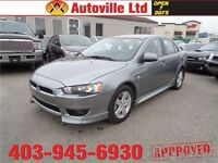 2014 Mitsubishi Lancer EVERYONE APPROVED. $0 DOWN AND $101 B/W!!
