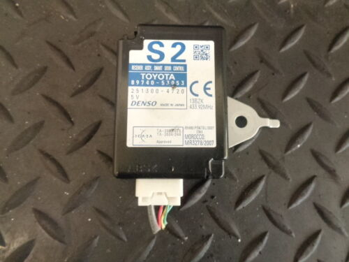 2008 LEXUS IS 220d 4DR SALOON SMART DOOR CONTROL MODULE 89740-53053 DENSO