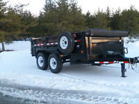 (NEW) 2014 P.J. 7 TON Dump trailer