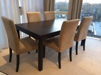 UPDATED: Large Extendable IKEA BJURSTA Table & 4 x HENRIKSDAL Chairs for Sale - £100 ONO