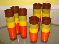 complete sets of 4 Tupperware cups