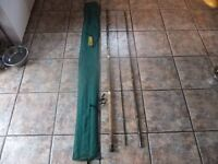 vintage abu mark 5 zoom 13ft all england match tip float rod in superb condition.