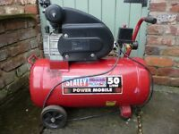 Sealey Portable Compressor approx 10 years old ( Hardly used ) 50 litre tank with 2HP compressor