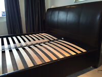 SuperKing Faux Leather Slatted bed