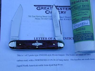 2008 PROTOTYPE GREAT EASTERN GEC NORTHFIELD RED WINE MOOSE KNIFE RARE MIT 542208