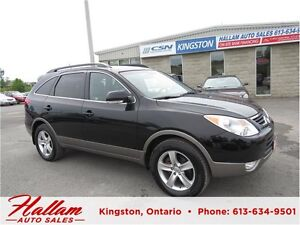 2012 Hyundai Veracruz, Sunroof, Blk Leather, AWD, 7 Passenger