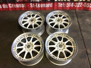 JDM VOLK RACING GT-N WHITE MAGS 17INCH 5X114.3 FOR SALE