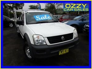 2003 Holden Rodeo TFR9 MY02 LX White 5 Speed Manual Spacecab Minto Campbelltown Area Preview