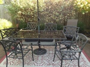 CAST ALUMINUM PATIO SET excellent condition
