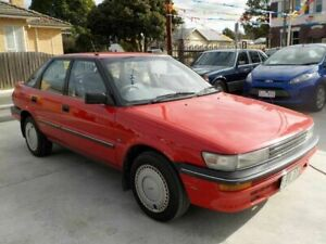 1990 Toyota Corolla AE92 CS Seca Red 3 Speed Automatic Liftback Newtown Geelong City Preview