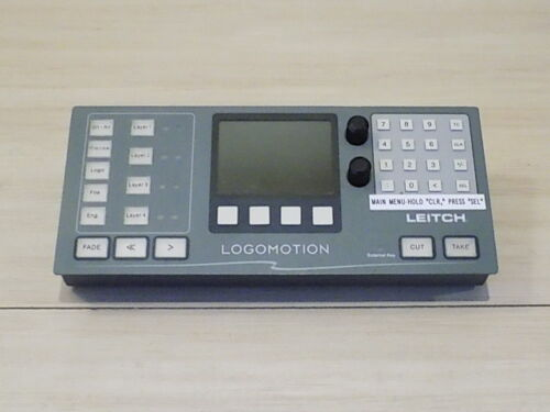 Leitch Harris MGI-RCP-DM Remote Control Panel LogoMotion 12VDC 1.0A MAX