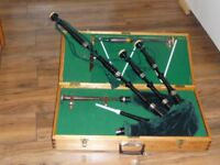 Peter Henderson 1930 Bagpipes plus wooden case.