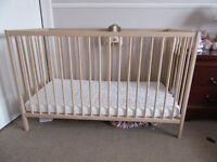 Ikea cot and mattress